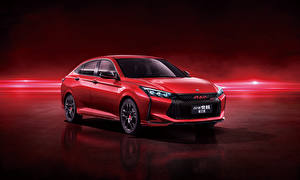 Pictures Red Metallic Chinese Red background Dongfeng Aeolus Yixuan CTCC Edition, 2021 auto
