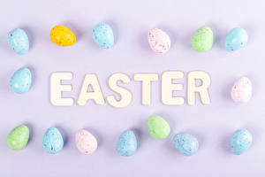 Image Easter Colored background Eggs Word - Lettering English Food
