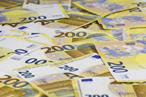 Papel de Parede Desktop Euro Dinheiro Papel-moeda Muitas 200