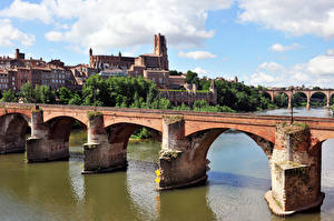 Photo France Rivers Bridge Albi, Tarn Cities