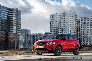 Pictures Geely Crossover Red Metallic 2020-21 Coolray Sport CIS-spec Cars