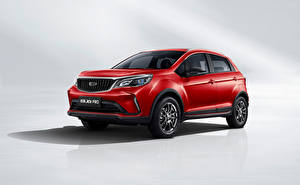 Wallpaper Geely Red Metallic Crossover Chinese Vision X3 Pro, 2021 automobile