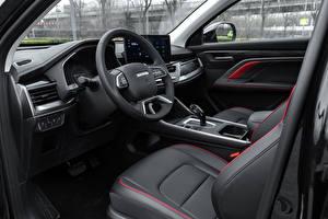 Bakgrundsbilder på skrivbordet Haval Salons Kinesisk Crossover Bil ratt H6 GT, 2021 bil