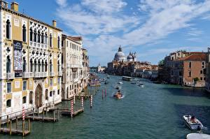 Hintergrundbilder Italien Motorboot Binnenschiff Kanal Venedig St. Mark's Cathedral