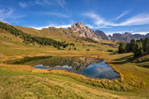 Fotos Italien Gebirge See Landschaftsfotografie Alpen South Tyrol, Dolomites