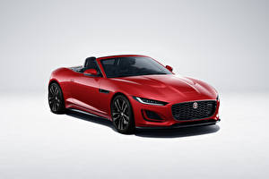 Sfondi desktop Jaguar Decappottabile Rosso Metallico F-Type R-Dynamic Black Convertible, Worldwide, 2021 autovettura