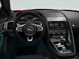 デスクトップの壁紙、、ジャガー - 自動車、自動車の内装、ステアリング・ホイール、F-Type R-Dynamic Black Convertible, Worldwide, 2021、