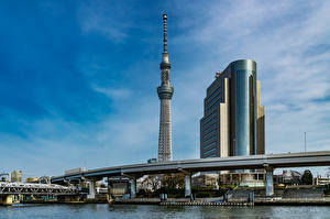 Bilder Japan Präfektur Tokio Haus Turm Taito Ward