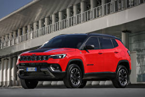 Sfondi desktop Jeep Rosso Metallizzato Compass Trailhawk 4xe, EU-spec, (MP), 2021 Auto