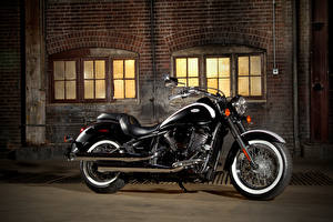 Wallpaper Kawasaki Black Side 2011-21 VN900 Vulcan Classic motorcycle