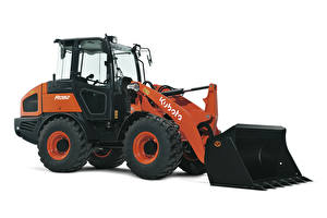 Images Loader Orange White background Kubota R082, 2017