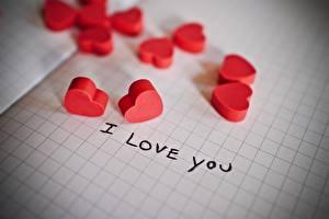 Fondos de escritorio Amor Hoja de papel Corazón Palabra Inglés