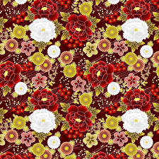 Wallpaper Many Texture japanese style Flowers