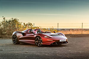 Wallpapers McLaren Wine color Roadster 2020-21 Elva Worldwide auto