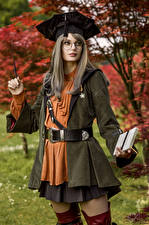Picture Mikhail Davydov photographer Cosplay Posing Glasses Glance Scholar, Final Fantasy XIV young woman Fantasy