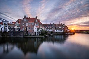 Fotos Niederlande Haus Morgen Enkhuizen Städte