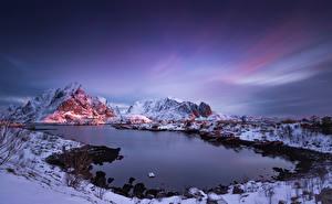 Photo Norway Lofoten Mountains Reine Nature