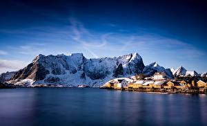 Pictures Norway Lofoten Mountains Sakrisoy Nature