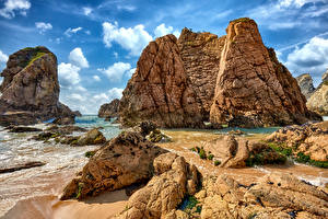 Fondos de Pantalla Portugal Costa Roca Sintra Naturaleza imágenes