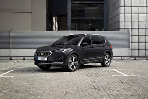 Pictures Seat Crossover Black Metallic Hybrid vehicle Tarraco Xcellence eHybrid, Worldwide, 2021 Cars