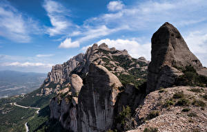 Photo Spain Mountain Crag Catalonia