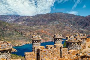 Hintergrundbilder Spanien Berg Festung Turm  Städte