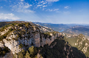 Image Spain Mountains Sky Crag Catalonia Nature