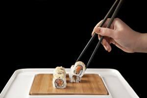 Hintergrundbilder Sushi Hand Maniküre Essstäbchen das Essen
