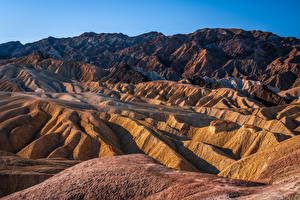 Wallpaper USA Mountain Parks Crag California Zabriskie Point, Death Valley National Park Nature