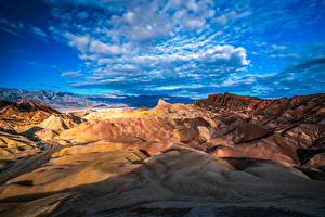 Images USA Parks Crag Clouds California Death Valley National Park Nature