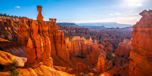 Wallpapers USA Parks Panoramic Canyons Rock Bryce Canyon National Park, Utah Nature