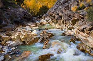 Hintergrundbilder USA Flusse Stein Felsen Colorado Natur
