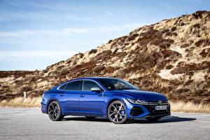 Sfondi desktop Volkswagen Blu colori Metallico Arteon R, Worldwide, 2020 -- automobile