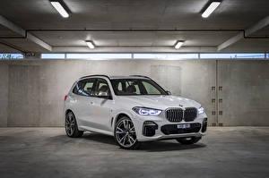 桌面壁纸,,BMW,跨界休旅車,灰色,金屬漆,2018-21 X5 M50d,汽车