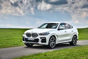 Wallpaper BMW Crossover White Metallic 2019-21 X6 xDrive30d M Sport Worldwide automobile
