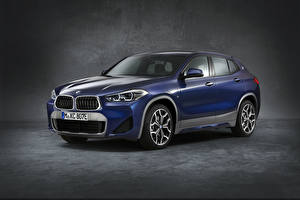 Picture BMW Gray background CUV Blue 2020-21 X2 xDrive25e M Sport Worldwide auto