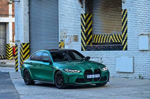 Tapety na pulpit BMW Zielony 2021 M3 Competition samochód