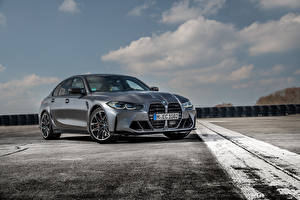 Bilder BMW Grau Metallisch M3 Competition xDrive, Worldwide, (G80), 2021 Autos