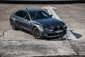 Bilder BMW Grau Metallisch M3 Competition xDrive, Worldwide, (G80), 2021 auto
