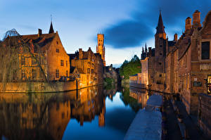 Hintergrundbilder Belgien Brügge Haus Kanal