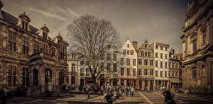 Hintergrundbilder Belgien Haus Straße Antwerpen