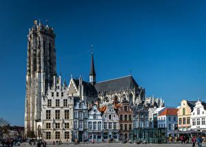 Photo Belgium Building Temple Street Mechelen