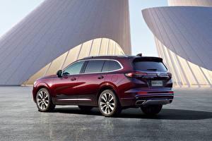 Desktop wallpapers Buick Metallic CUV Wine color Envision Plus Avenir, China, 2021 automobile