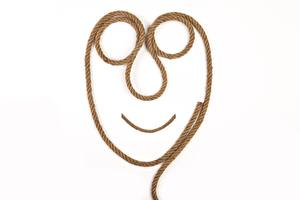 Desktop wallpapers Creative White background Rope Face Humor
