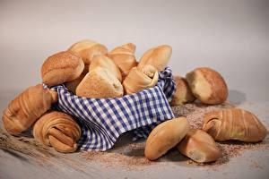 Papel de Parede Desktop Croissant Pastelaria Rosca de passas Muitas comida