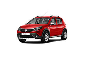 Picture Dacia Red Metallic White background Sandero Stepway, (Worldwide), 2009-12 Cars