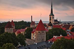 Bilder Estland Tallinn Haus Turm Old Tallinn