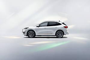 Hintergrundbilder Ford Weiß Metallisch Seitlich Escape PHEV, (China), 2021 automobil
