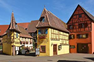 Fotos & Bilder Frankreich Haus Design Straßenlaterne Eguisheim Städte