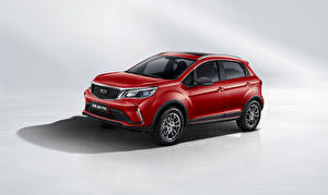 Pictures Geely Gray background CUV Red 2021 Vision X3 Pro Cars